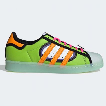 Adidas x The Simpsons Superstar 'Squishee' Team Solar Green/Bright Orange/Sky Tint H05789