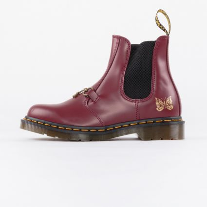 Dr Martens x Needles 2976 Snaffle Boot Made in England Cherry Red Smooth