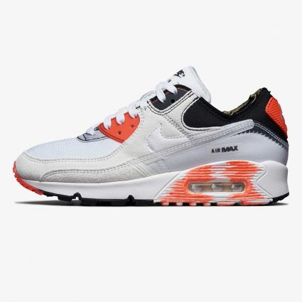 Nike Air Max 90 Premium 'Archetype' White/White-Black-Bright Crimson DC7856-100