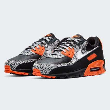 Nike Air Max 90 'Safari' Black/White-Safety Orange DA5427-001
