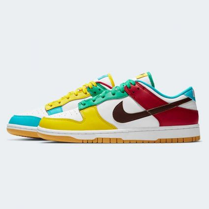 Nike Dunk Low SE White/Lt Chocolate-Roma Green DH0952-100