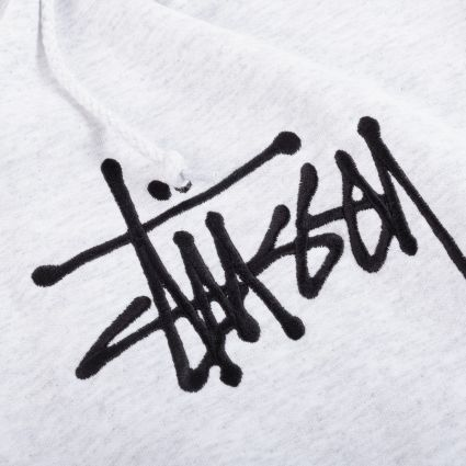 Stussy Basic App. Hoodie Ash Heather