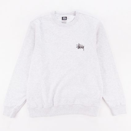 Stussy Basic Crewneck Sweatshirt Ash Heather1