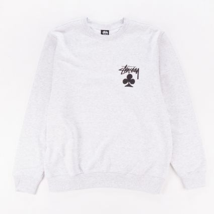 Stussy Club Crewneck Sweatshirt Ash Heather1
