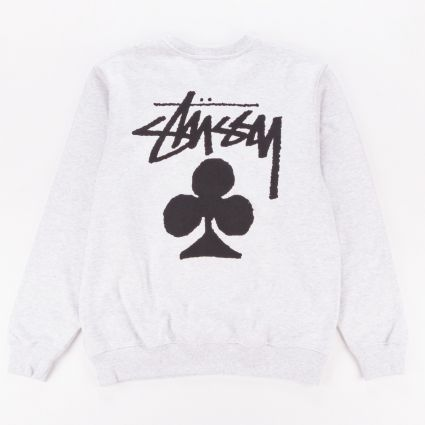 Stussy Club Crewneck Sweatshirt Ash Heather