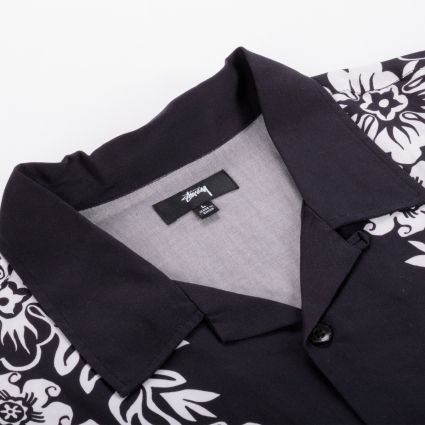 Stussy Hawaiian Pattern Shirt Black