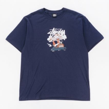 Stussy Something's Cookin' T-Shirt Navy1